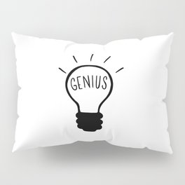 Light bulb in black and white Pillow Sham