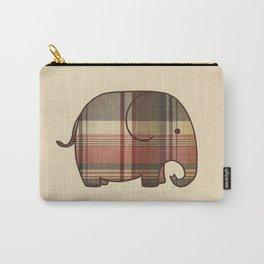 Plaid Elephant  Carry-All Pouch