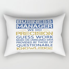 BUSINESS MANAGER Rectangular Pillow