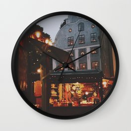 December in Stockholm  Wall Clock