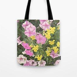 Petunias and Violas Tote Bag