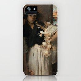 John Singer Sargent - Venetian Onion Seller iPhone Case