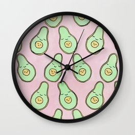 Mum and Bub Avocados Wall Clock