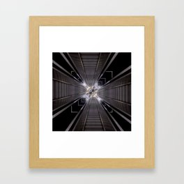 Reflected Stairs Framed Art Print