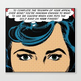Retro Romance Pop Art  Canvas Print