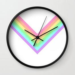 Pastel Rainbow Chevron Wall Clock