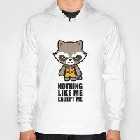 rocket raccoon Hoodies featuring Talking Raccoon by Papyroo