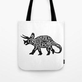 Triceratops or Tricerabottom? Tote Bag