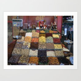 Dried Fruits for Sale in Barcelona Art Print