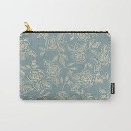 Dust Blue Rose Carry-All Pouch