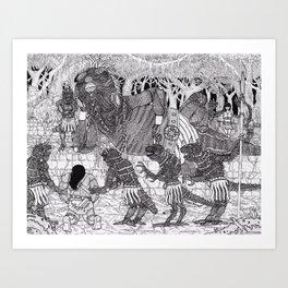 Conan meets the Lizard King Art Print