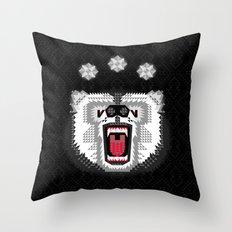 Polar Bear Geometric Throw Pillow