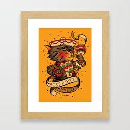 Fiesta like there´s no mañana Framed Art Print