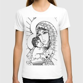 Madonna and Child as Indians T-shirt