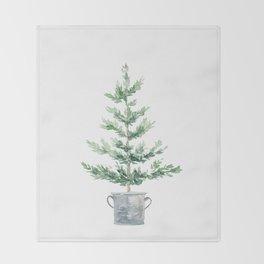 Christmas fir tree Throw Blanket