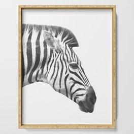 Black and White Zebra Profile Serving Tray