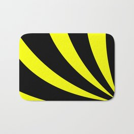 Swoopy  |  Black and Yellow Bath Mat