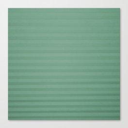 Vintage chic green geometrical stripes pattern Canvas Print