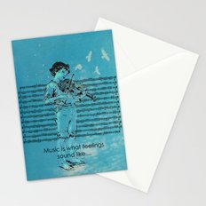 Music and Feelings Stationery Cards