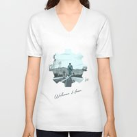 fallout V-neck T-shirts featuring Fallout 4 by jorgeink
