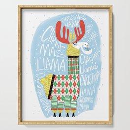 Christmas Llama Serving Tray