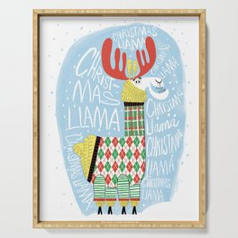 Christmas Llama Serving Tray