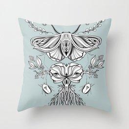 Black Mirror - Moss Throw Pillow