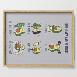 New Year's Resolutions with Avocado Serving Tray