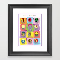 HAIR RODMAN Framed Art Print
