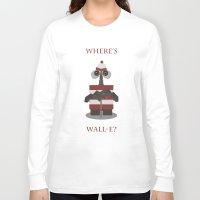 wall e Long Sleeve T-shirts featuring Where's Wall-e? by Robert Scheribel
