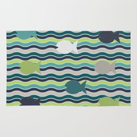 under the sea Area & Throw Rugs featuring Under The Sea by LLL Creations