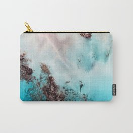 Pink Coral Coastline Carry-All Pouch