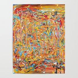 Orange Composition Poster