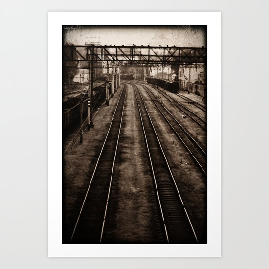Choosing roads  Art Print