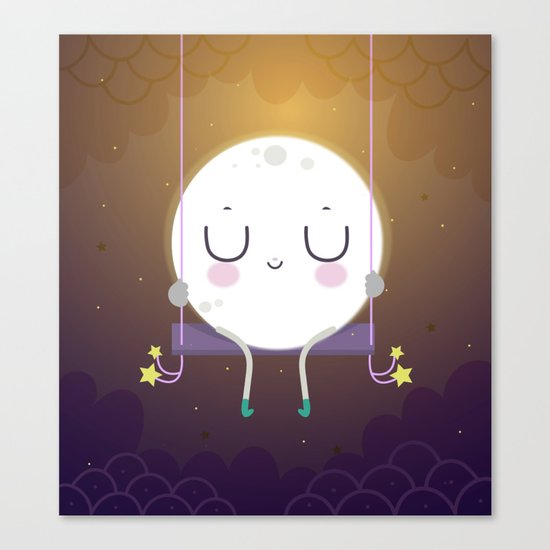 Little Moon Canvas Print