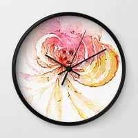 blossom Wall Clocks featuring Blossom by Amanda Moore