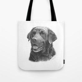 Labrador BW Tote Bag