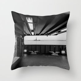 Statue of Liberty from the Ferry Throw Pillow