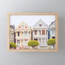 Painted Ladies - San Francisco Travel Photography Framed Mini Art Print