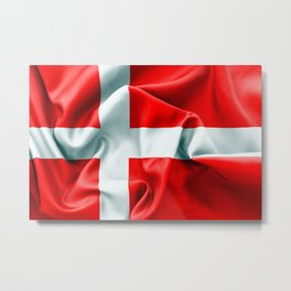 Denmark Flag Metal Print