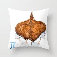 gemini Throw Pillows featuring Gemini by Aloke Design