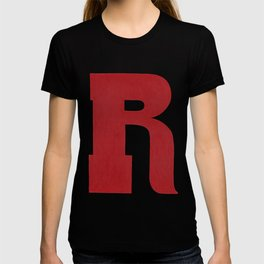 Woodtype Typographic Letter R T-shirt