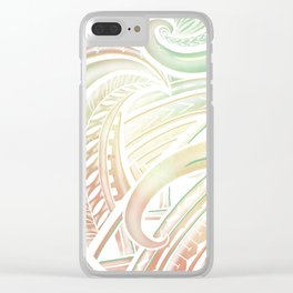 Opaque Polynesian Clear iPhone Case