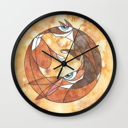 Aesop's Fable: The Hare And The Hound Wall Clock