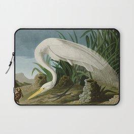 White Heron - John James Audubon's Birds of America Print Laptop Sleeve