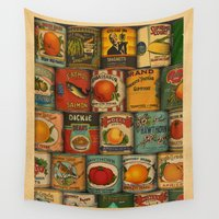 usa Wall Tapestries featuring Canned in the USA by Megs stuff