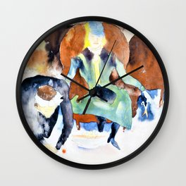 Charles Demuth - Scene after Georges Stabs Himself with the Scissors - Digital Remastered Edition Wall Clock