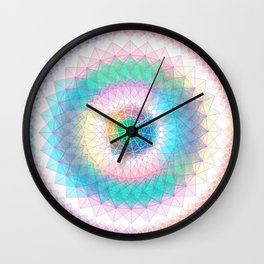 Orb mandala 3 baby blue Wall Clock