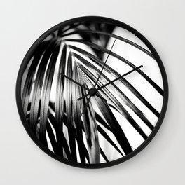 Black & White Palm Leaf #2 #decor #art #society6 Wall Clock
