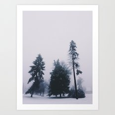 Alone in December Art Print